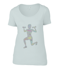 Load image into Gallery viewer, Anvil Ladies Sheer Scoop Neck T-Shirt Fit LuXe