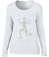 Load image into Gallery viewer, Anvil Ladies Sheer Long Sleeve Scoop Neck T-Shirt Fit LuXe