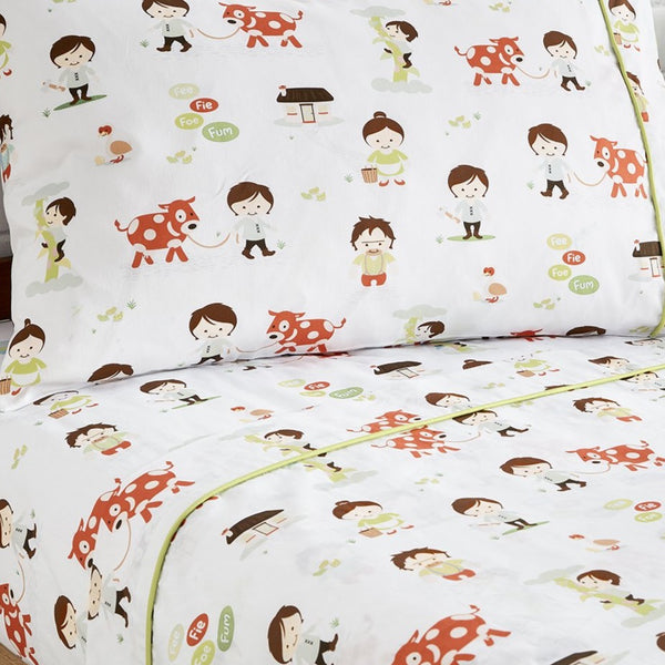 Jack & the Beanstalk Flat Sheet