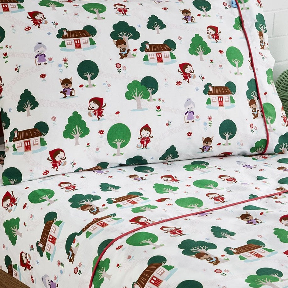 Little Red Riding Hood Flat Sheet