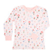 Story Book Flower Print Long Sleeve Pyjama Top