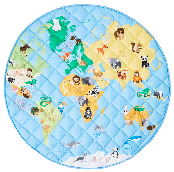 Smart Sheets - Animal World Map Playmat