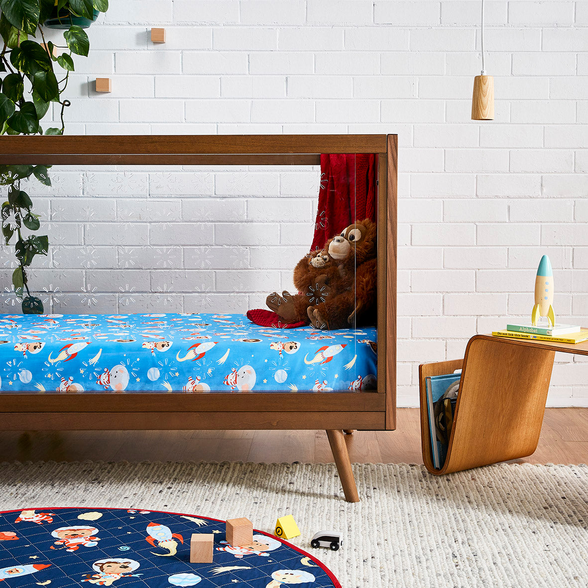 Space Animals Cot Sheet