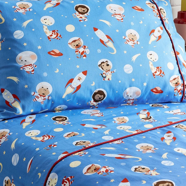 Space Animals Flat Sheet