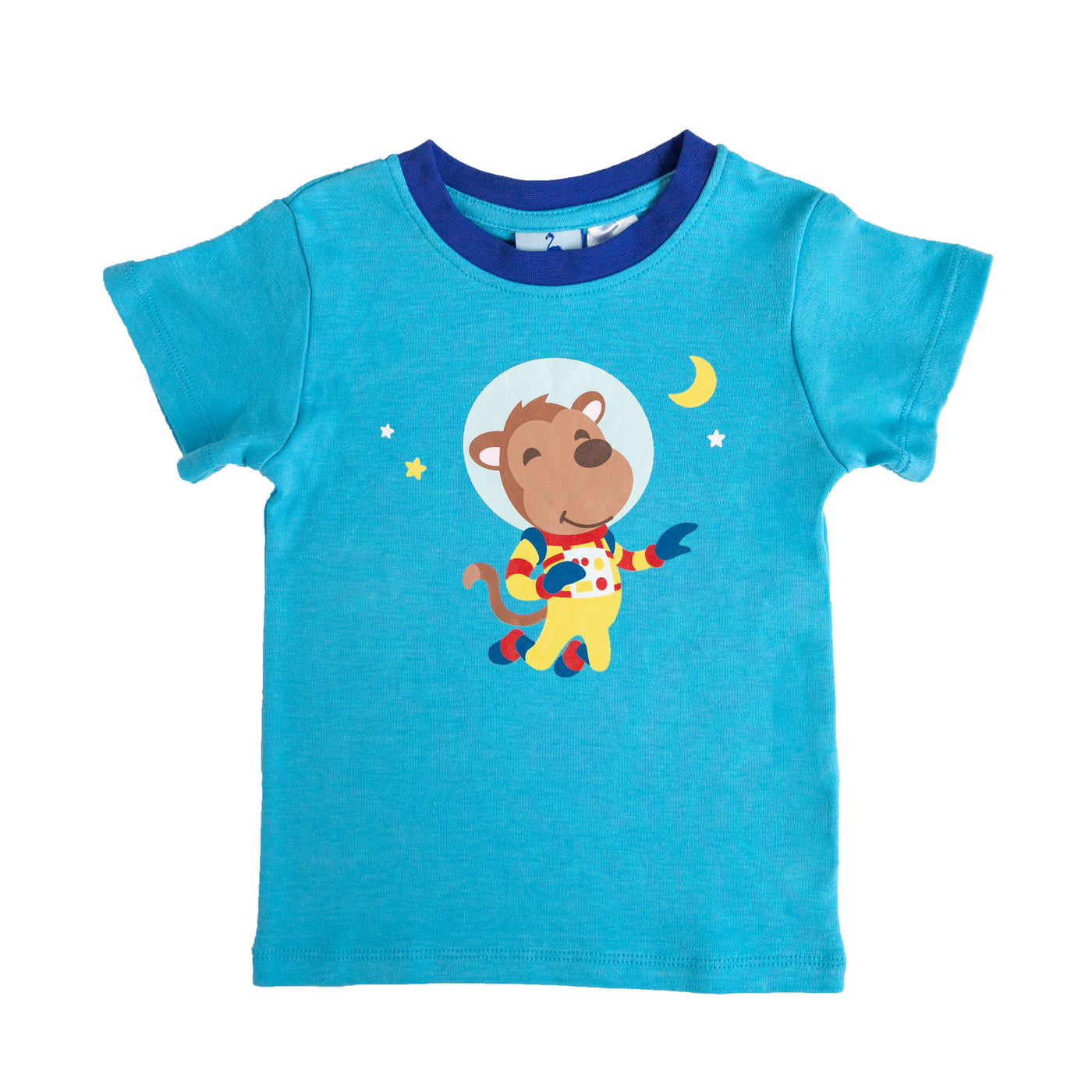 Space Monkey Short Sleeve Pyjama Top