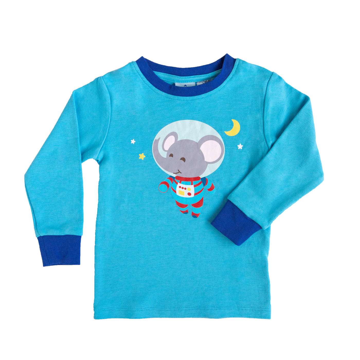Space Elephant Long Sleeve Pyjama Top