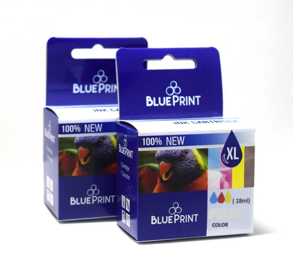 Cartucho Tinta Blueprint P/ Hp 22 Xl 18ml Color Dbstore Dbs