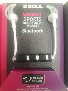 Auriculares Manos Libres Bluetooth Sports Magnetico Ms-606i