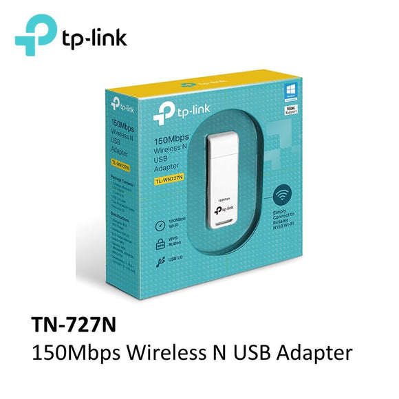 Adaptador Tp-link Tl-wn727n Wireless Wifi 150mbps Usb Wps