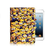 Funda + Vidrio iPad 2 3 4 Minions Flip Cover Tablet Dbstore