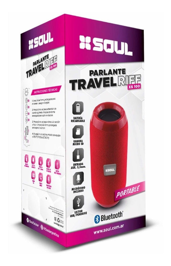 Parlante Portatil Bluetooth Travel Riff Xs100 Calidad