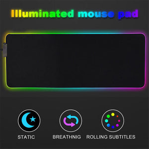 Mouse Pad Xl Gamer 78 X 30 Cm X4mm Led Rgb Gaming Fsd - 18