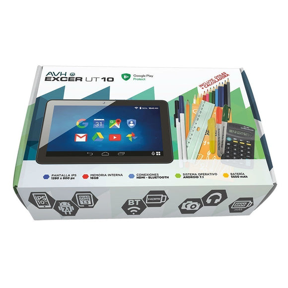 Tablet Avh Excer Ut 10 Hdmi Bluetooth 16gb 10 Pulgadas