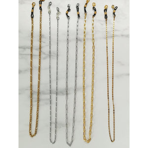 Gold Figaro mask chain MASXESSOIRES (3-IN-1 MASK CHAIN, READERS AND NECKLACE)