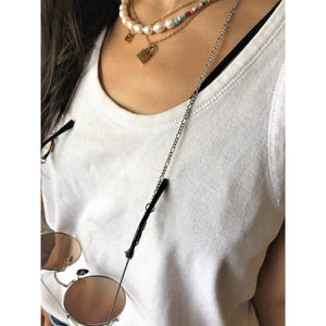 Silver Figaro MasXessoires (3-in-1 mask chain, readers and necklace) - ATELIER SYP