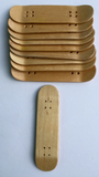 Fingerboard Wooden Tech Deck Skateboard natural wood grain no stains Lot of 10 - Woodchuck Laminates