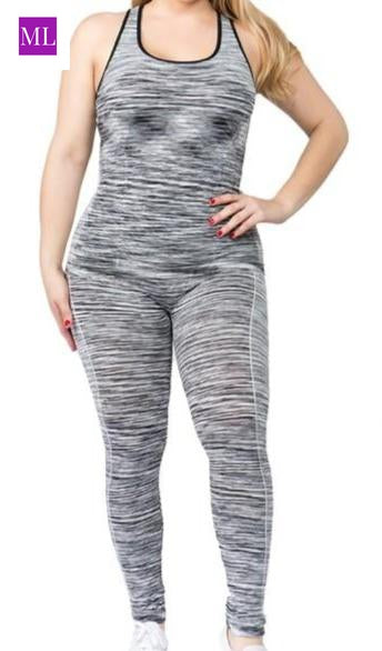 Active space dye set - tank top and legging.  Highly flexible Good Stretch