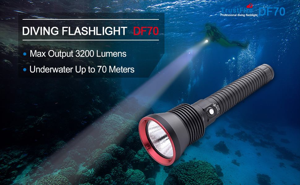 TrustFire Professional Diving Flashlight DF70 Launched