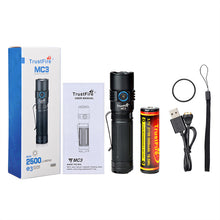 Load image into Gallery viewer, Trustfire MC3 EDC Magnetic Rechargeable Led Flashlight 2500Lumens(fast delivery from GERMANY and USA could receive within 5 days)