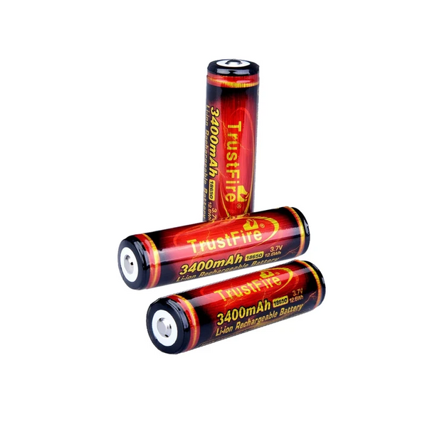 3 x TF18650 3400mAh Batteries (fast delivery from GERMANY and USA could receive within 5 days)