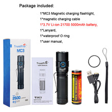 Load image into Gallery viewer, Trustfire MC3 EDC Magnetic Rechargeable Led Flashlight 2500Lumens