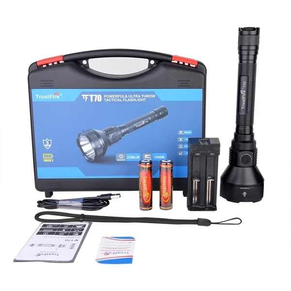 T70 LED Flashlight SET (fast delivery from GERMANY and USA could receive within 5 days)