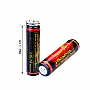 2 x TF18650 3400mah Batteries