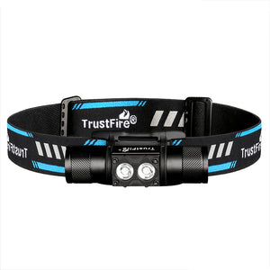 Trustfire H5R Headlamp 600 Lumens 18650 Battery Light IP68