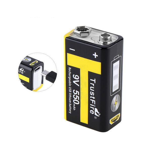 2 x 9V 550mAh USB Battery