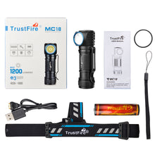Load image into Gallery viewer, Trustfire MC18 1200 Lumens Led Flashlight Magnetic Rechargeable