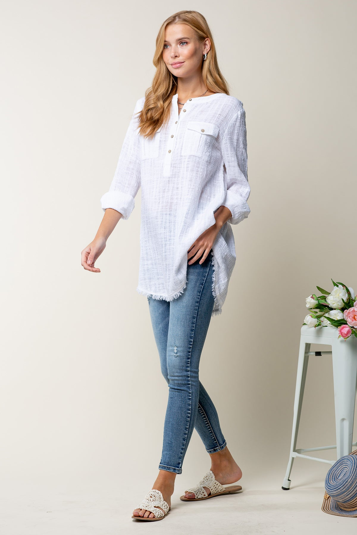 Button Down Breeze Top