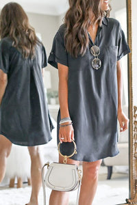 Turn Down Collar Dress
