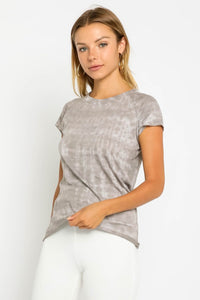 Taupe Tie Dye Tee