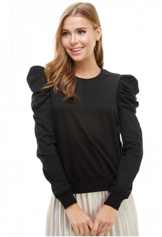 Puff Sleeve Pullover Top