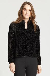 Arden Velvet Burnout Blouse