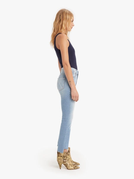 Mother Denim The Insider Crop Step Fray in Fresh Catch