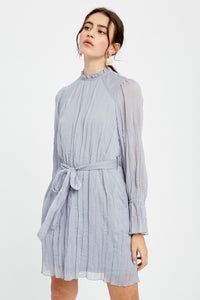 Long Sleeve Crinkle Dress