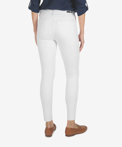 Connie High Rise Jean - Optic White