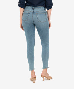 Connie High Rise Fab Ab Jeans - Bulbinella Wash