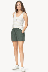 Drawstring Gauze Shorts
