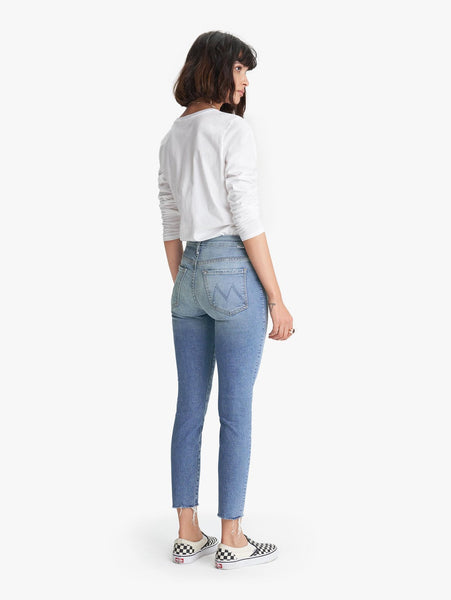 Mother Denim High Waisted Ankle Fray Shoot to Thrill