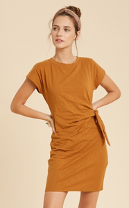 Cotton Side Tie Dress