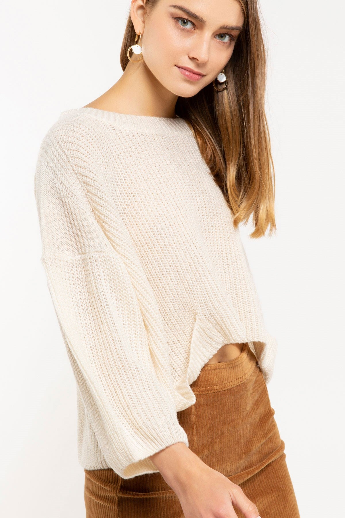 Boxy Cream Sweater