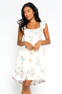 Floral Ruffle Strap Sun Dress