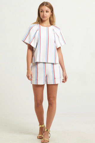 Jolie Short - Red&Blue Stripe