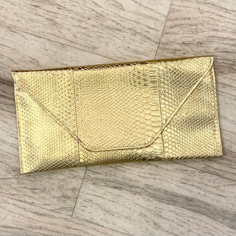 Vegan Reptile Envelope Clutch