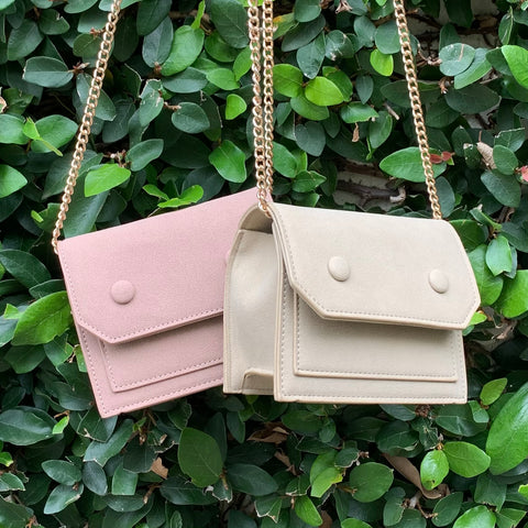 Faux Suede Chain Crossbody