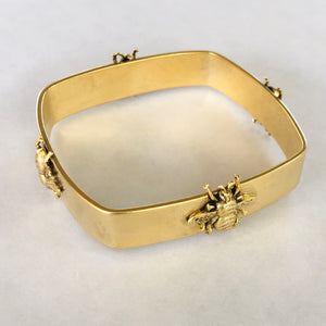 Square Bangle Bracelet with Bee