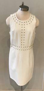 White Vegan Leather Dress