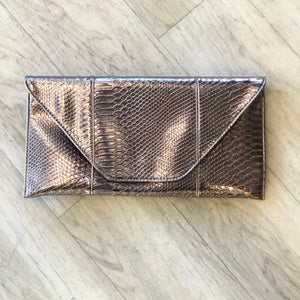 Vegan Reptile Leather Envelope Clutch